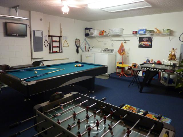 Well-equipped games room and cable TV